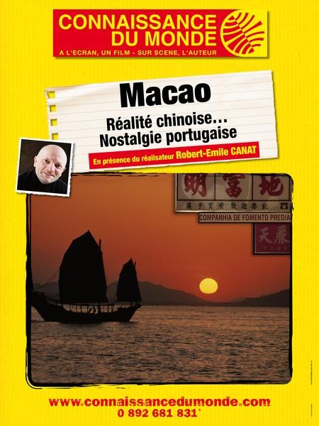 """Affiche du film """"MACAO,Réalité chinoise... Nostalgie portugaise"""""""